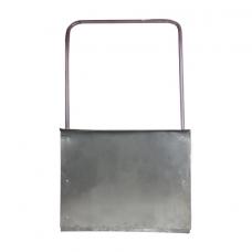 Лопата-скребок (скрепер), оцинкованная сталь 0,8 мм, 75х55 см, высота 120 см, эконом, металлическая ручка, 603557