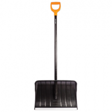 Лопата снегоуборочная FISKARS, пластик, 53,5х36 см, высота 145 см, алюминиевая кромка, деревянный черенок, 1026792