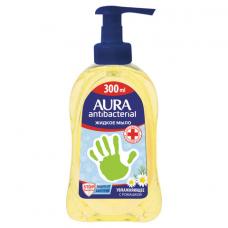 Мыло-крем жидкое, 300 мл, AURA 'Antibacterial', антибактериальное, 'Экстракт ромашки', дозатор, 28410, 6515