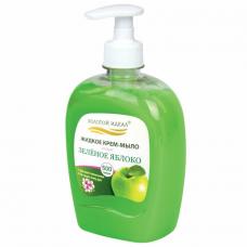 Мыло-крем жидкое 500 г ЗОЛОТОЙ ИДЕАЛ 'Зеленое яблоко' дозатор, 606413