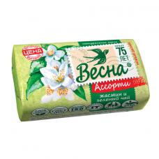 Мыло туалетное 90 г ВЕСНА 'Жасмин и зелёный чай', ГОСТ, 6084