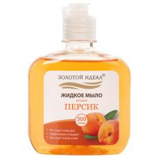 Мыло жидкое 300 г ЗОЛОТОЙ ИДЕАЛ 'Персик', флип топ, 606777