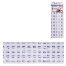 Насадка МОП плоская для швабры/держателя 40 см, карманы (ТИП К), микрофибра/абразив, ЛАЙМА, 603120