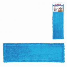 Насадка МОП плоская для швабры/держателя 40 см, карманы (ТИП К), микрофибра, ЛАЙМА 'Эконом', 603116