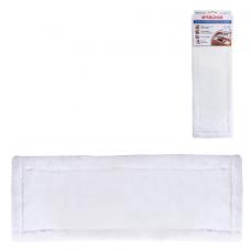 Насадка МОП плоская для швабры/держателя 40 см, карманы (ТИП К), плотная микрофибра, ЛАЙМА 'Бюджет', 603117