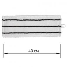 Насадка МОП плоская для швабры/держателя 40 см, уши/карманы (ТИП У/К), микрофибра/скраб, ЛАЙМА EXPERT, 605313