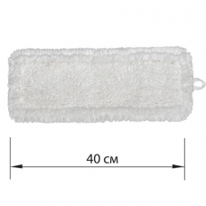 Насадка МОП плоская для швабры/держателя 40 см, уши/карманы (ТИП У/К), петлевая микрофибра, ЛАЙМА EXPERT, 605315