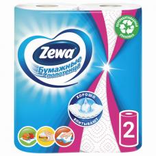 Полотенца бумажные бытовые, спайка 2 шт., 2-х слойные (2х13,5 м), ZEWA 'Decor', белые, 144087
