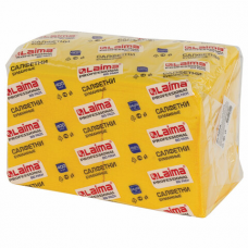 Салфетки бумажные 400 шт., 24х24 см, LAIMA, 'Big Pack', желтые (интенсив), 100% целлюлоза, 111794