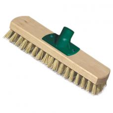 Щетка для уборки шробер (скраббер) ширина 23 см, щетина 2,5 см, деревянная, крепление еврорезьба, YORK, 300