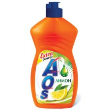 Средство для мытья посуды 450 мл, AOS 'Лимон', 1118-3