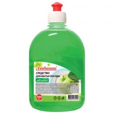 Средство для мытья посуды 500 мл, ЛЮБАША 'Яблоко', пуш-пул, 604779