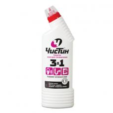 Средство для уборки туалета 750 г, ЧИСТИН '3 в 1', содержит активный хлор, 2795