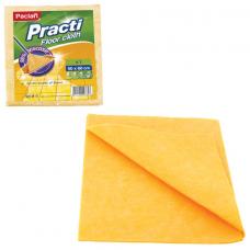 Тряпка для мытья пола, 50х60 см, 200 г/м2, вискоза (ИПП), оранжевые, PACLAN 'Practi Floor cloth', 163427