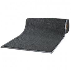 Коврик-дорожка ворсовый влаго-грязезащитный ЛАЙМА, 90х1500 см, толщина 7мм, черный, 602880
