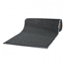 Коврик-дорожка ворсовый влаго-грязезащитный ЛАЙМА, 120х1500 см, толщина 7 мм, черный, 602883