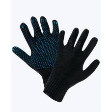 Перчатки трикотажные х/б 4 нити с ПВХ размер 20, арт. A-0565
