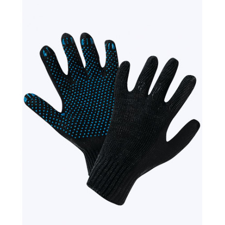 Перчатки трикотажные х/б 4 нити с ПВХ размер 20, арт. A-0565,