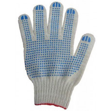 Перчатки трикотажные х/б 4 нити с ПВХ, арт. A-0190
