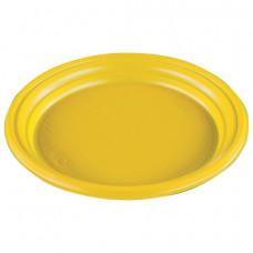 Тарелка одноразовая 205 мм желтая (50 шт/уп)