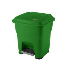 Контейнер ViledaГЕРА с педалью и крышкой 35 л, зеленый, с наклейками для сортировки, арт.162520