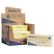 Салфетки в пачке с цветным кодированием Wypall Х50, 50 листов 25х42 см, желтый, арт. 7443