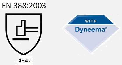 EN 388:2003 / 4342. With Dyneema®
